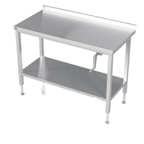 Table de travail réglable par manivelle dosseret + étagère