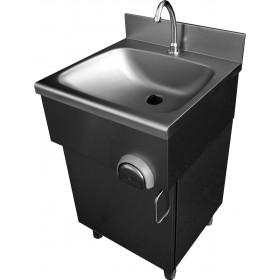 Lave-mains inox sur placard