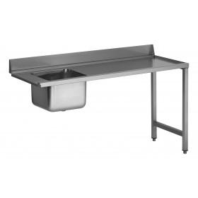 Table entrée 1 bac 500x400x300 mm sans TVO bac à gauche avec TVO