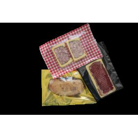 Sacs sous-vide Vichy rouge/blanc