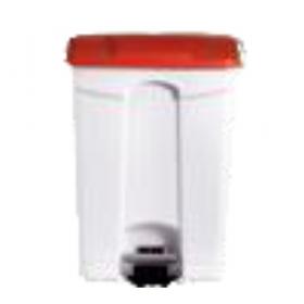Poubelle plastique 90 litres rouge