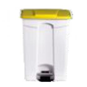 Poubelle plastique 90 litres blanche