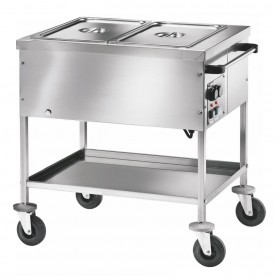 Chariot bain-marie 4 cuves gn1/1-200