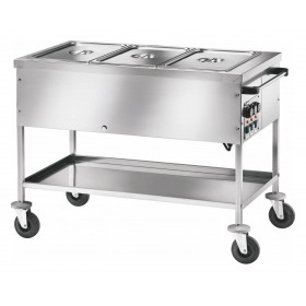 Chariot bain-marie 3 cuves gn1/1-150