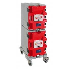 Kit 2 coffres isotherme 12 niveaux + chariot